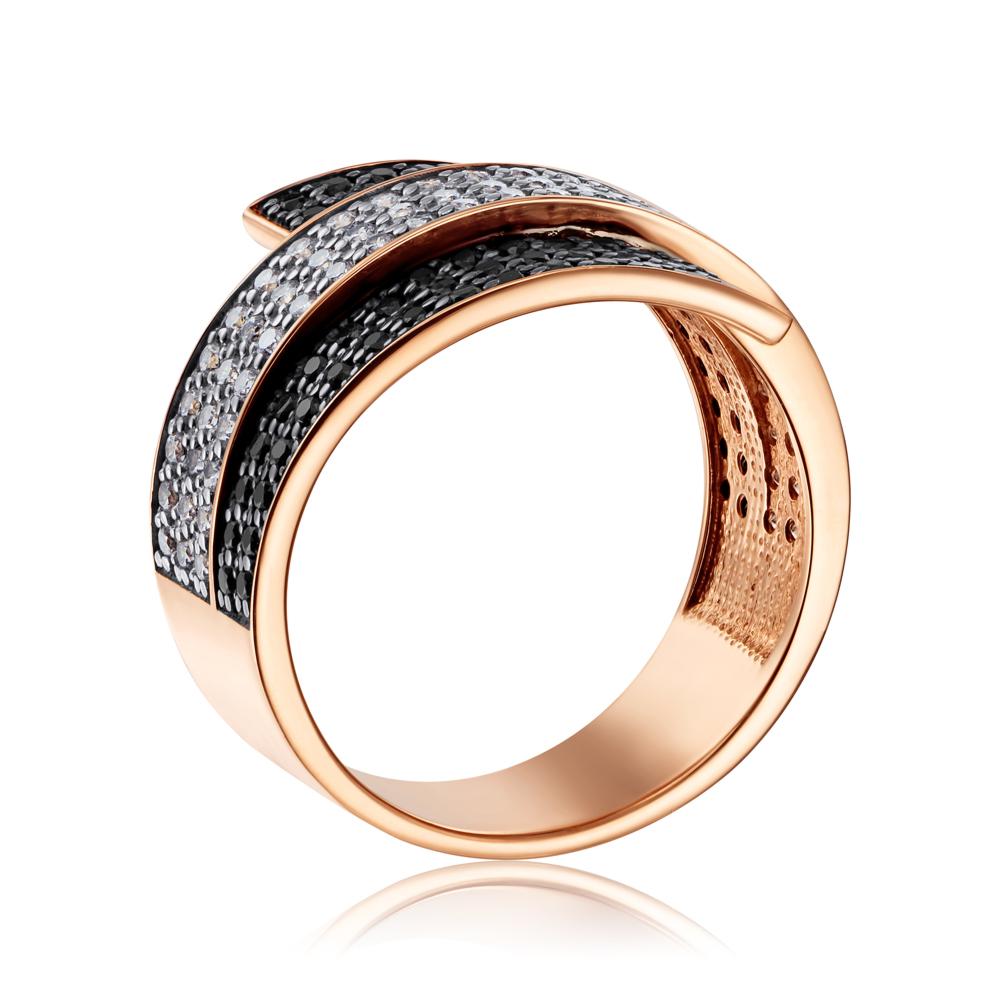 Золотое кольцо с фианитами (13174/01/1/146)