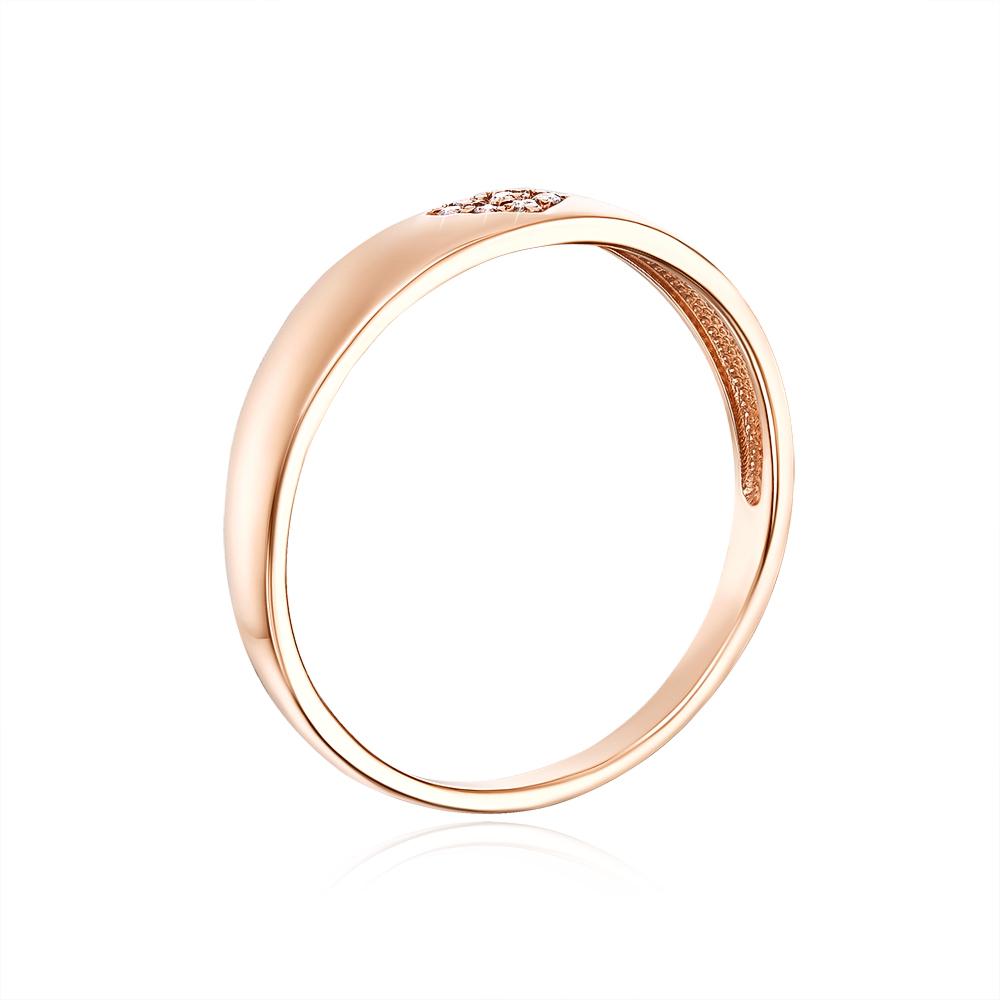 Золотое кольцо с фианитами. Артикул 12194