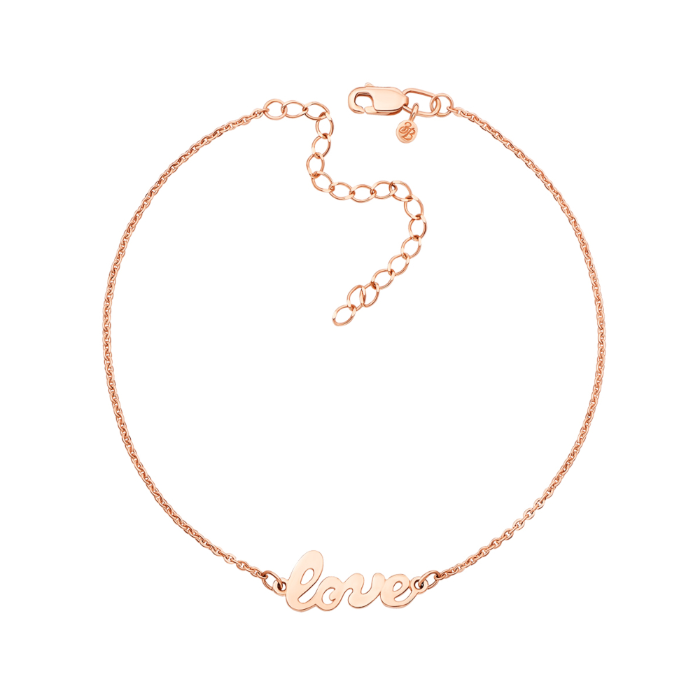 Золотий браслет «Love» без вставки. Артикул 0161/77024-1/01/0