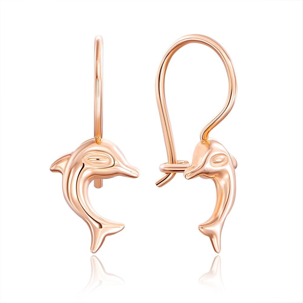 Золоті сережки «Дельфіни». Артикул 02959