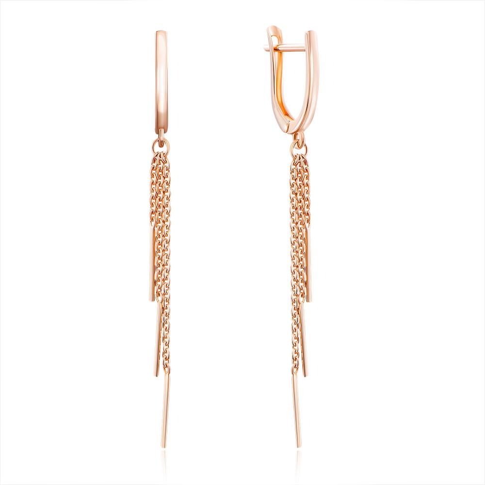 Золоті сережки-підвіски. Артикул 02960