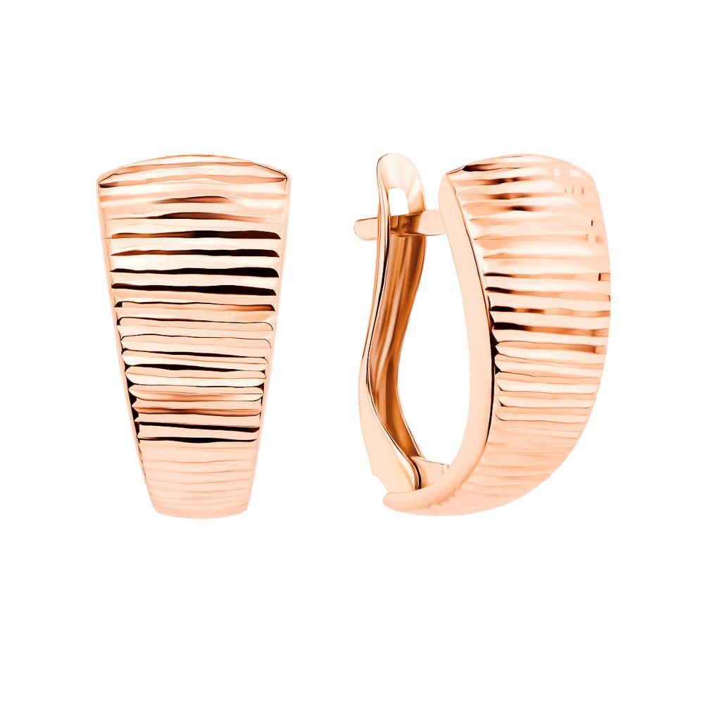 Золоті сережки з алмазною гранню (02901-11/01/2 (02901/л)
